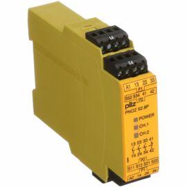 Pilz biztonsági relé, 2 csatornás, 24 V AC/DC PNOZ X2.8P