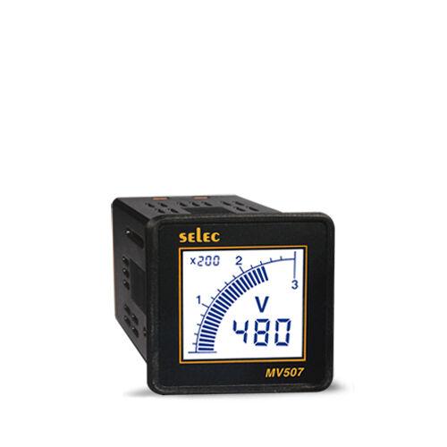 selec-mv507-cu-egyfazisu-digitalis-voltmero-lcd-116-din