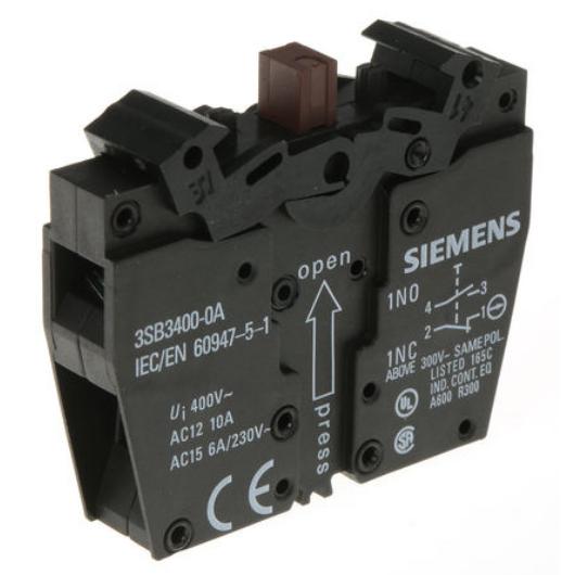 siemens-kontaktblokk-1no-1nc-3sb3400-0a